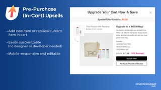 Pre-Purchase (In-Cart) Upsells