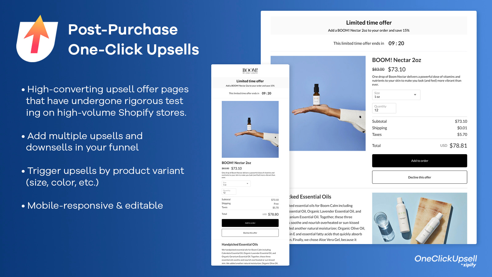 Post-Purchase One-Click Upsells