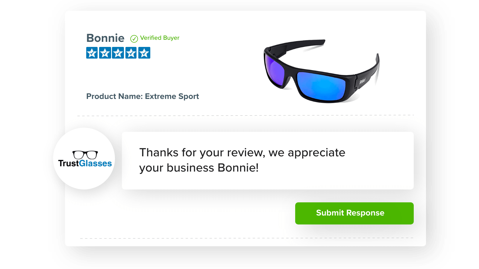 Respond to reviews to build a community & support your customers