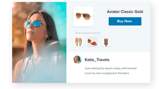 Display Instagram photos from your customers using your hashtags