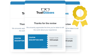 Incentivize reviews and repeat purchases with coupon