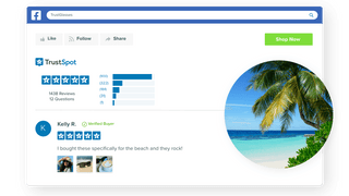 Display your company reviews on your Facebook page
