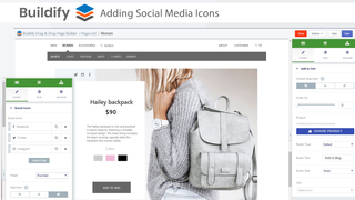Adding social network icons to the page