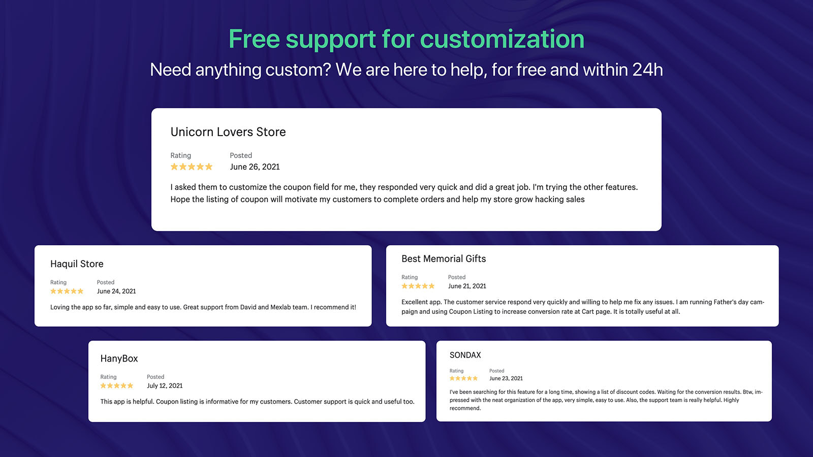free for customization free support within 24 hours