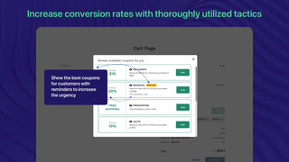 Increase conversion rates, high CR reminder to check out