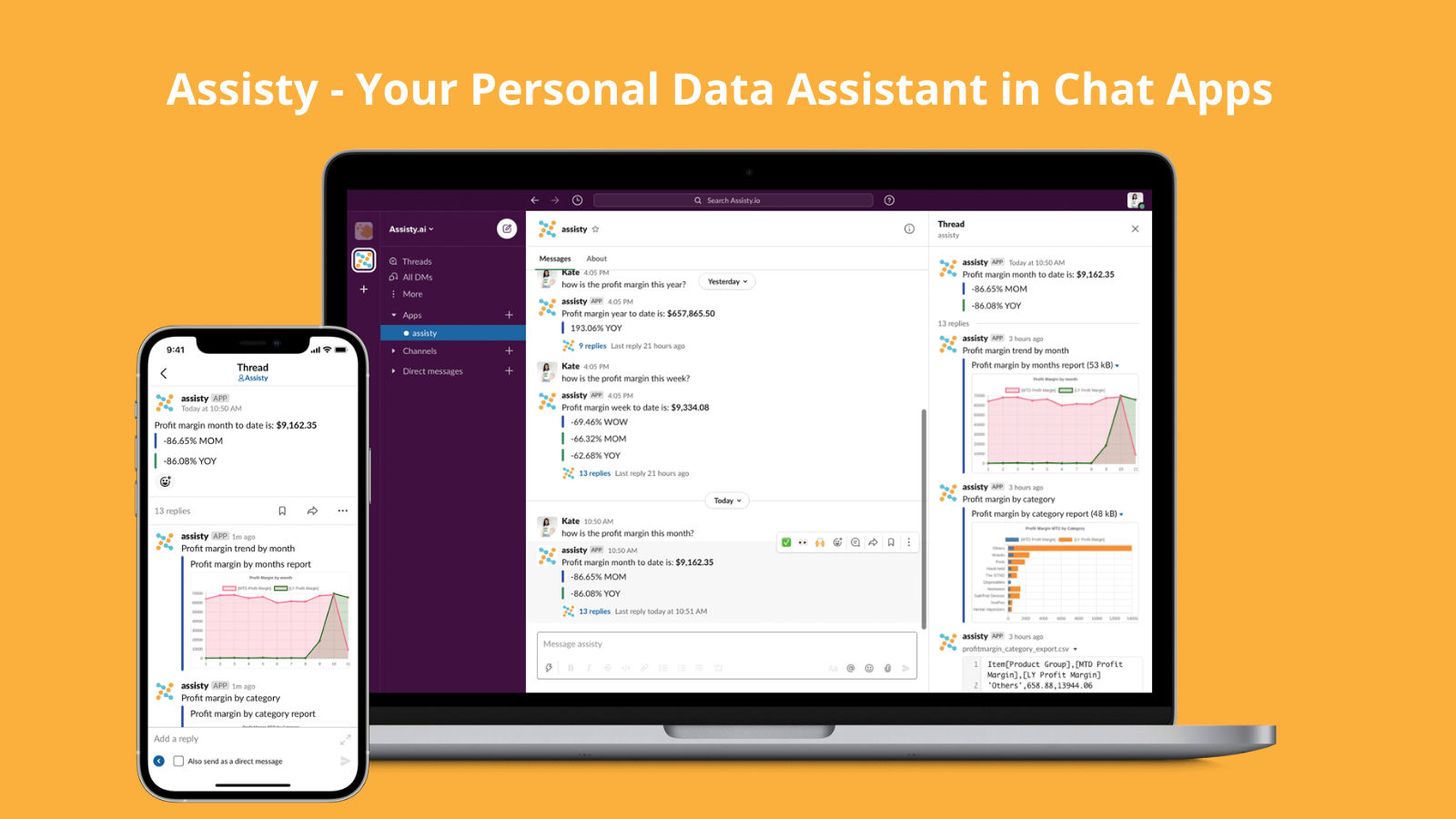 Assisty - Your personal Data Assisty in Chat Apps