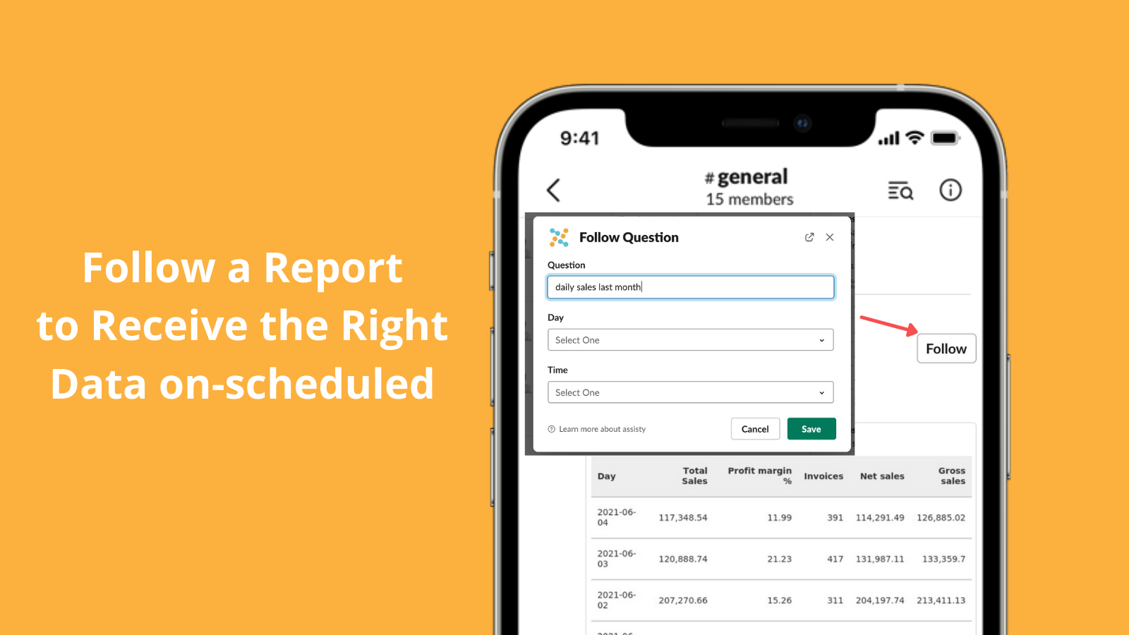 You can schedule a report by follow a question