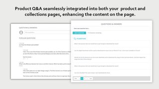 Q&A integrated on your product and collections pages