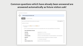 Automatically answers product questions existing knowledge base