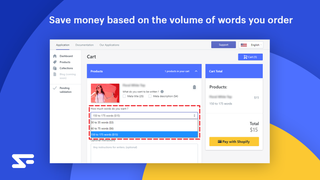 save money on the volume of words you order