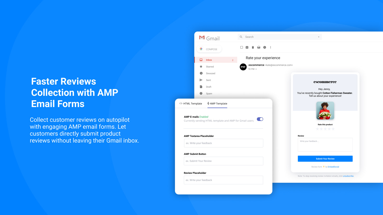 Reviews AMP Email Form