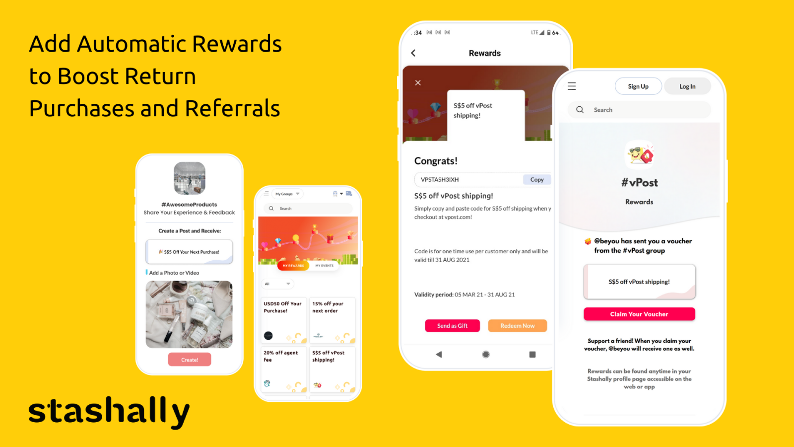 Distribute Rewards for Repeat Purchases and Referrals