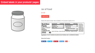Product with FDA 2018 horizontal nutrition facts label