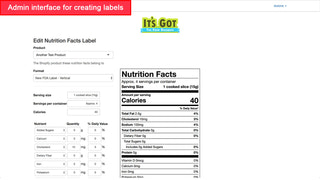 FDA 2018 vertical nutrition facts label