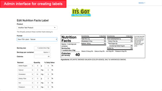 FDA 2018 horizontal nutrition facts label