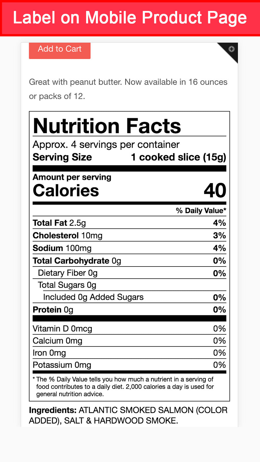 FDA 2018 vertical nutrition facts label mobile view