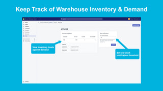 Keep track of inventory & demand