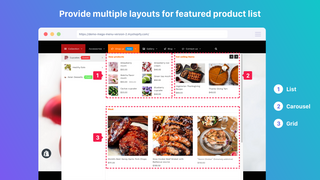 Multiple layouts for products in Mega Menu