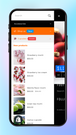Products on mobile menu