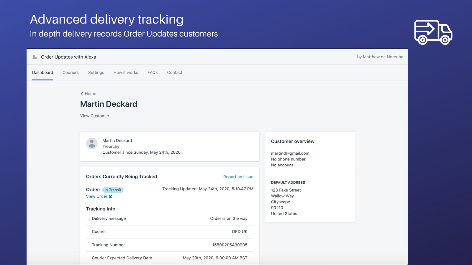 Advanced delivery tracking