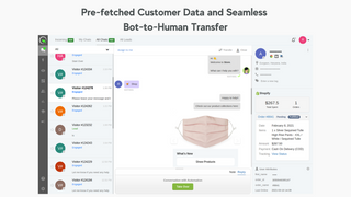 Pre-fetched Customer Data and Seamless  Bot-to-Human Transfer