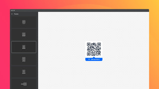 Frames will help you integrate your QR Code seamlessly