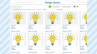 Upload and Manage Designs in the Design Library