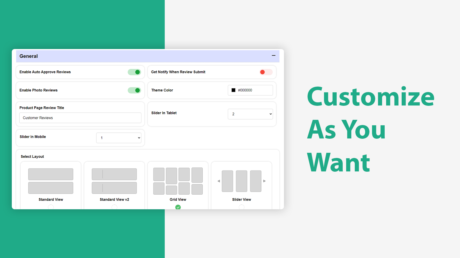 Customize Reviews  Product Review With Widget - SquadKin