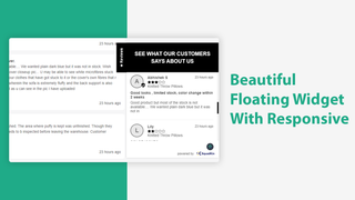 Floating Widget  Product Review With Widget - SquadKin