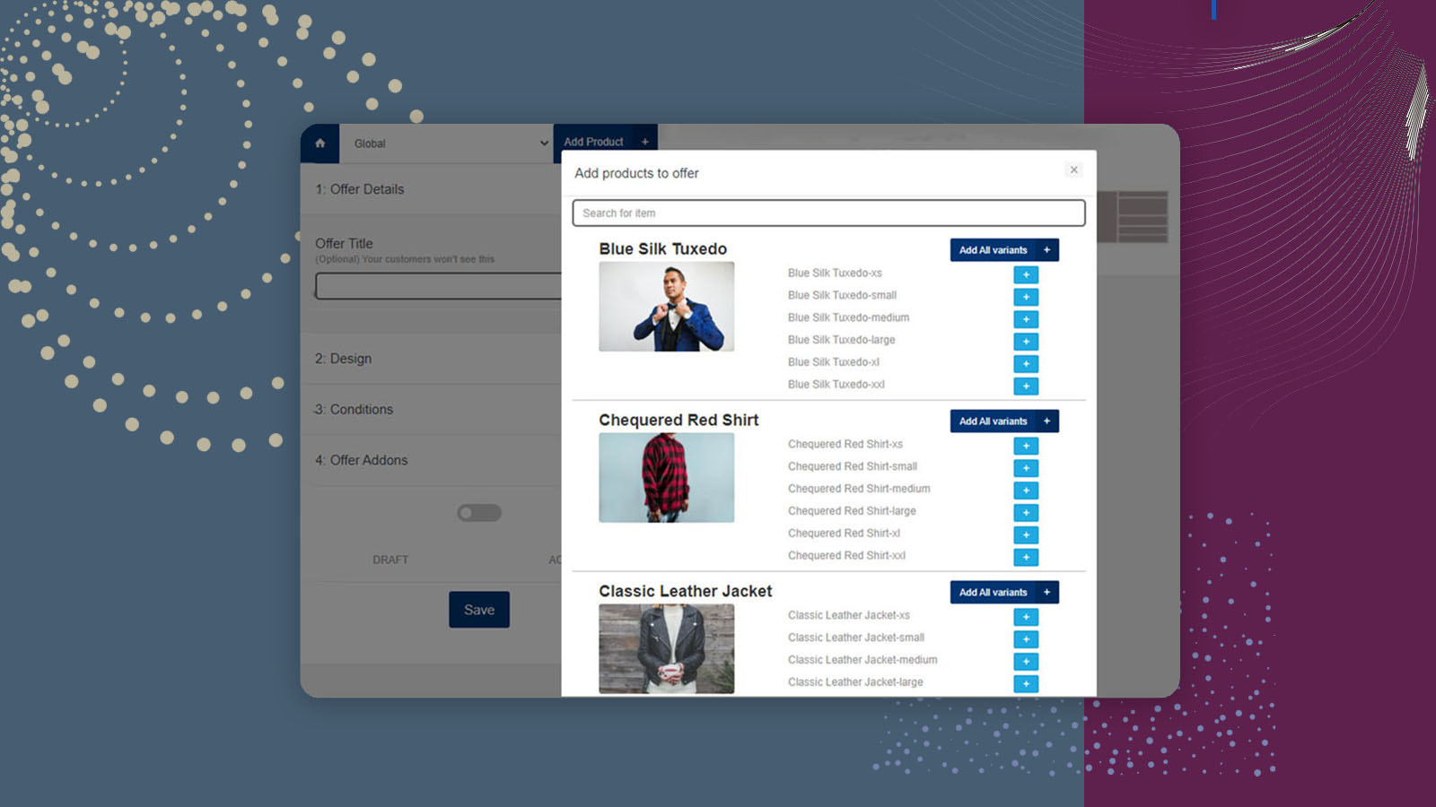 New Upsell & cross sell page