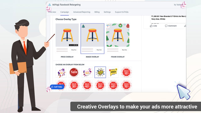 Customized Creative Overlays & Frames for better Ad Optimization
