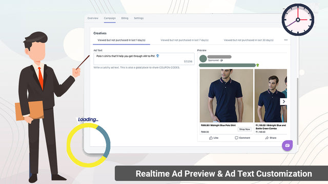 Realtime Ad Preview & Ad Text Customization. Live Catalogue Sync