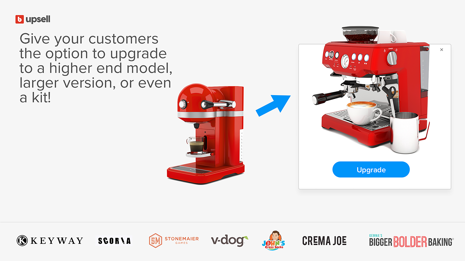 Offer true upsells with product upgrades