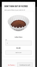 Cross-sell mobile view