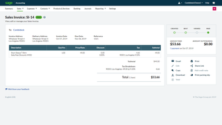 Shopify Sage Business Cloud Accounting booking