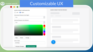 Customizable Website Search, Product Search, Store Search