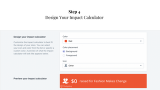 Step 4: Design Your impact calculator