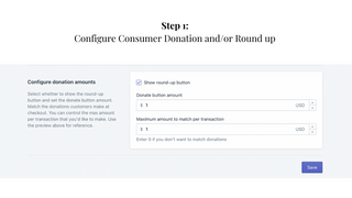 Step 1: Configure Consumer Donation and/or Round up