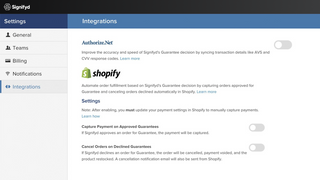 Shopify Workflow Settings