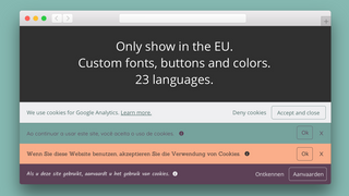 Custom fonts and colors.