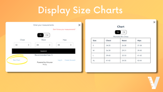"""Display size charts in the """"Find Your Size"""" widget"""