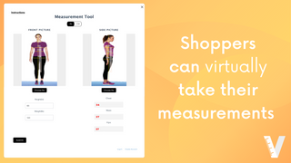 Shopper's can virtually take their measurements with 2 pictures
