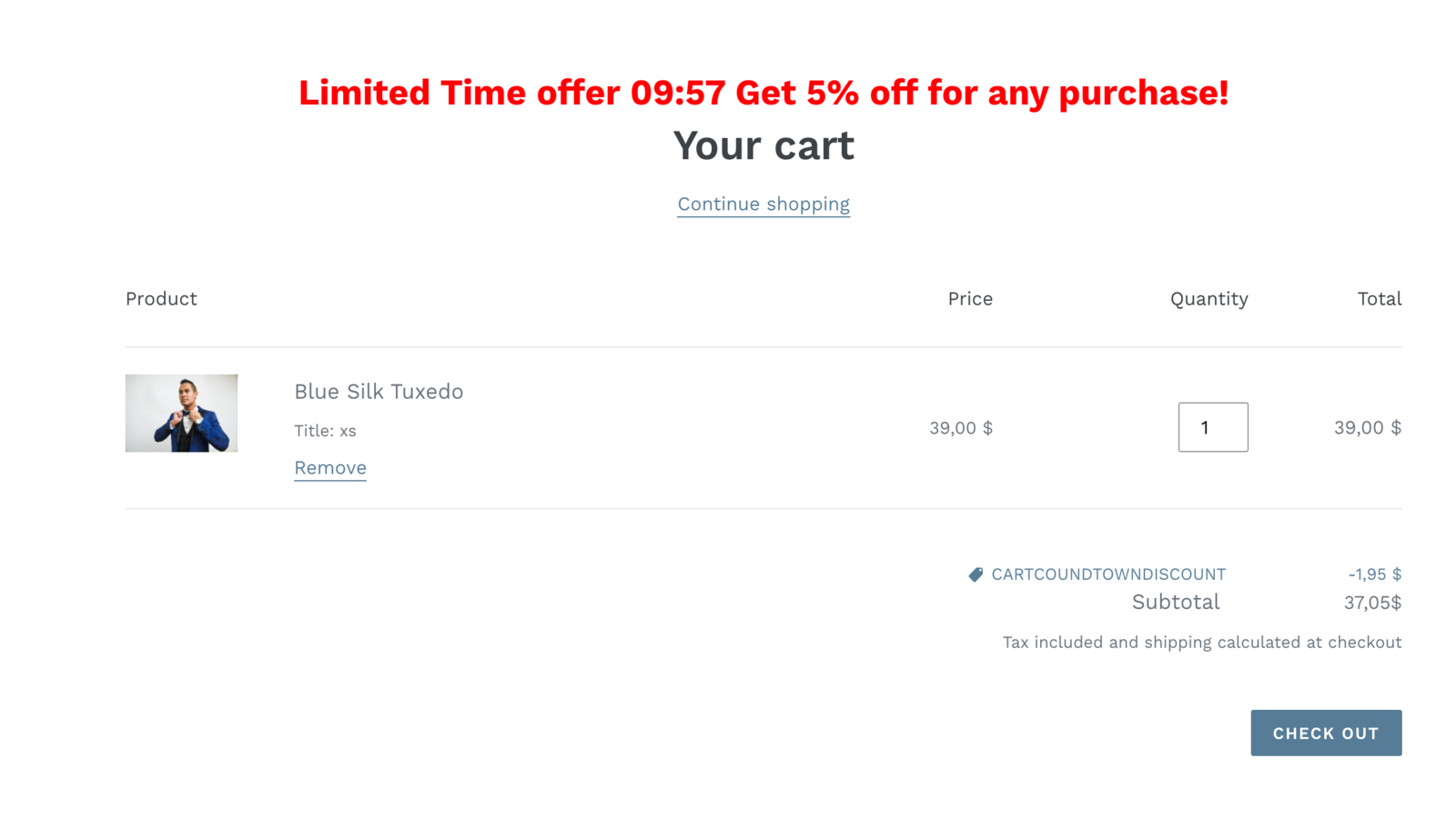 Apply small discounts directly on the cart page