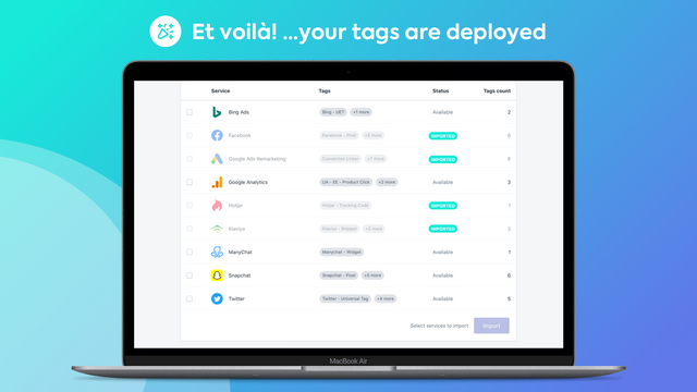 Easy Tag - Your tags are deployed