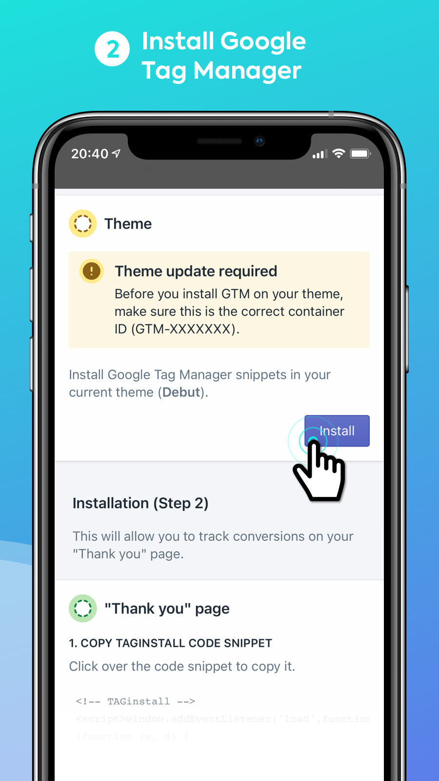 Easy Tag - Install Google Tag Manager