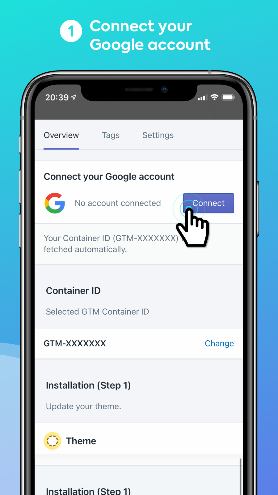 Easy Tag - Connect your Google account