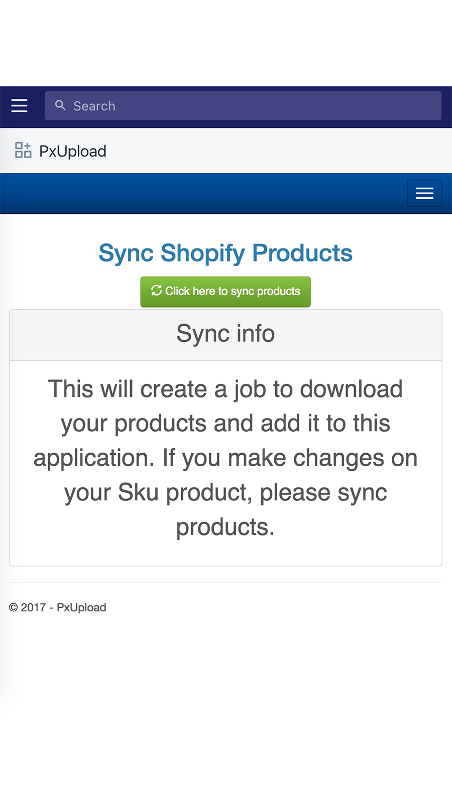 Sync products