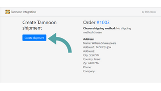 All the order data is pulled and only one click for a shipment