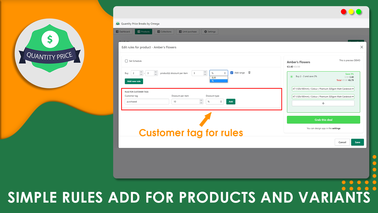 add rules for products