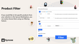 Use our Filter feature to easily pick which products to upload.